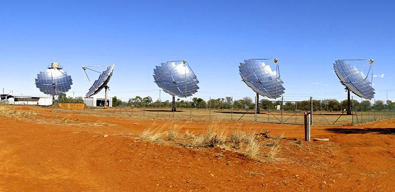 Solar farm in Windorah, Queensland, Australia